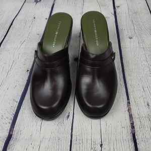 Tommy Hilfiger Leather Clog  Slides.